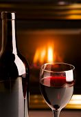 Fireplace Red Wine