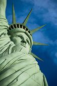 The Statue Of Liberty Is A Colossal Copper Statue Designed By Auguste Bartholdi A French Sculptor Wa poster
