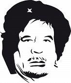 Постер, плакат: ЧЕ Каддафи