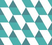 Triangular Background. Seamless Geometric Pattern. Seamless Abstract Triangle Geometrical Background poster