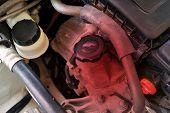 Engine System Maintenance Engine Check Car Care Equipment.hot Engine. poster