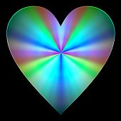Gentle spectrum colors heart
