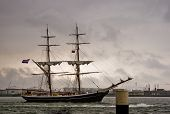 picture of brig  - The brig is a very old and efficient sailing rig - JPG