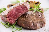 beef steak with herbs