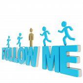 foto of sm  - Follow me illustration - JPG