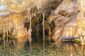 pic of stalagmite  - The magnificent and majestic caves of Diros in Greece - JPG