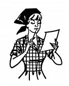 picture of homemaker  - Woman Checking List  - JPG