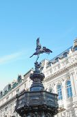 picture of ero  - Piccadilly Circus with statue of Anteros aka Eros in London - JPG