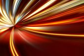 stock photo of acceleration  - acceleration of the motion on the night road - JPG