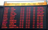 Flights Departure Information Timetable In Ben Gurion International Airport On J