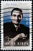 UNITED STATES OF AMERICA - CIRCA 2002: A stamp printed in USa shows Irving Berlin circa 2002