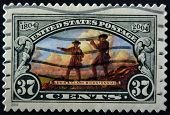 United States Of America - Circa 2004: A Stamp Printed In The Usa Shows Lewis And Clark Expedition