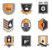 picture of shoe-box  - Vector Boxing icons - JPG