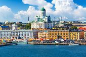stock photo of scandinavian  - Scenic summer panorama of the Market Square  - JPG