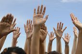 pic of voting  - Hands Up - JPG