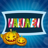 Scary Halloween night background, banner or poster for trick or treat party with colorful text and s