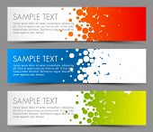 foto of circle shaped  - Simple colorful horizontal banners  - JPG