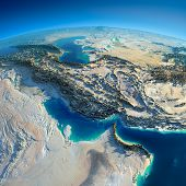Detailed Earth. Persian Gulf