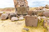 Funerary Towers In Sillustani, Peru,south America- Inca Prehistoric Ruins Near Puno,titicaca Lake Ar