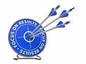 Focus on Results Slogan - Hit Target.