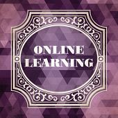 Online Learning. Vintage Design Concept.