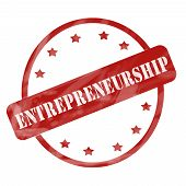 stock photo of entrepreneurship  - A red ink weathered roughed up circle and stars stamp design with the word ENTREPRENEURSHIP on it making a great concept - JPG