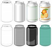 Beverage can in different styles