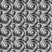 stock photo of uncolored  - Design seamless monochrome swirl pattern - JPG