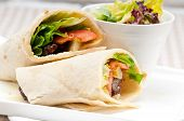 pic of shawarma  - kafta shawarma chicken pita wrap roll sandwich traditional arab mid east food - JPG