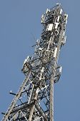 Cellphone mast against blue sky