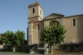 Church in historical town in northen Spain poster
