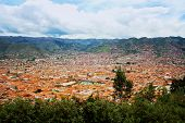 Urban Landscape Of Cusco, Peru. A View From A Mountain