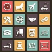 Shipment and Transportation Icons Symbols Flat Design Style vector