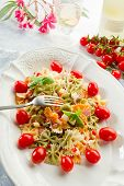 stock photo of glass noodles  - cold pasta salad - JPG