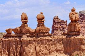 picture of goblin  - Three Sisters Hoodoos Goblin Valley State Park Rock Canyon San Rafael Desert Utah USA Southwest - JPG