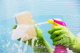 stock photo of latex woman  - Cleaning  - JPG