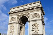 foto of charles de gaulle  - A view of the magnificent Arc de Triomphe in Paris France - JPG