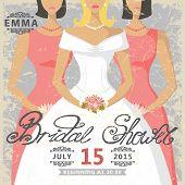picture of bridal shower  - Retro Bridal shower invitation - JPG