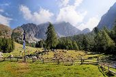 picture of south tyrol  - Mountain landscape in the Sarntal Alps in South Tyrol - JPG