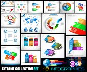 picture of diagram  - Collection of 18 Infographics for social media and clouds - JPG