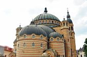 stock photo of sibiu  - sibiu city romania Orthodox holy Trinity church - JPG