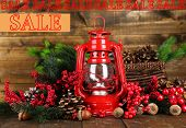 foto of kerosene lamp  - Concept of discount - JPG