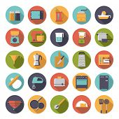 image of kitchen appliance  - Flat Design Cooking Appliances Vector Icons Collection - JPG