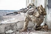 pic of army  - United States Army ranger during the military operation - JPG