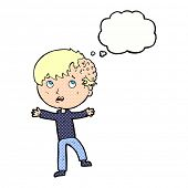 picture of grossed out  - cartoon gross growth on head - JPG
