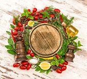 foto of laurel  - Fresh vegetables spices and herbs - JPG