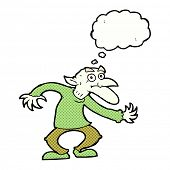 pic of goblin  - cartoon goblin with thought bubble - JPG