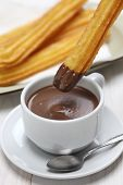 pic of churros  - churros and hot chocolate - JPG