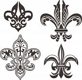picture of fleur de lis  - classic fleur de lis symbol for your label - JPG