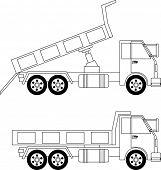 picture of dump-truck  - Illustration of dump truck isolated on white background - JPG